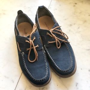Tommy Bahama Navy Blue Suede Calderon DII Shoes